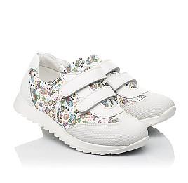 Детские кроссовки Woopy Fashion белые для девочек натуральная кожа размер 20-33 (8090) Фото 1