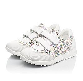 Детские кроссовки Woopy Fashion белые для девочек натуральная кожа размер 20-33 (8090) Фото 3