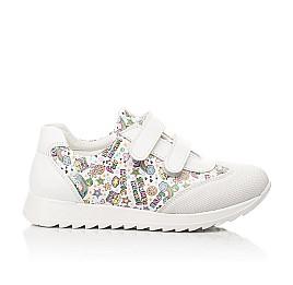 Детские кроссовки Woopy Fashion белые для девочек натуральная кожа размер 20-33 (8090) Фото 4
