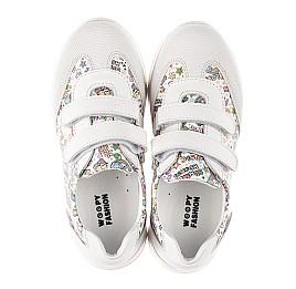 Детские кроссовки Woopy Fashion белые для девочек натуральная кожа размер 20-33 (8090) Фото 5