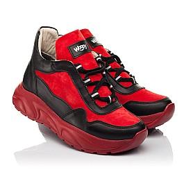 Детские демисезонные ботинки Woopy Fashion красные для девочек натуральные кожа и нубук размер 33-39 (8093) Фото 1
