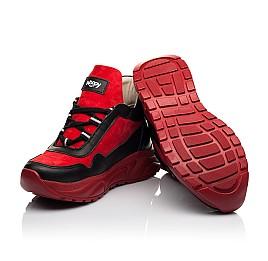 Детские демисезонные ботинки Woopy Fashion красные для девочек натуральные кожа и нубук размер 33-39 (8093) Фото 2