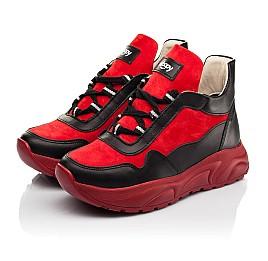 Детские демисезонные ботинки Woopy Fashion красные для девочек натуральные кожа и нубук размер 33-39 (8093) Фото 3