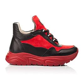 Детские демисезонные ботинки Woopy Fashion красные для девочек натуральные кожа и нубук размер 33-39 (8093) Фото 4