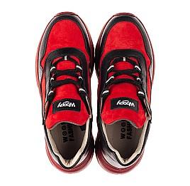 Детские демисезонные ботинки Woopy Fashion красные для девочек натуральные кожа и нубук размер 33-39 (8093) Фото 5