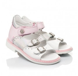 Детские босоножки Woopy Orthopedic розовые для девочек натуральная кожа размер 26-36 (8095) Фото 1