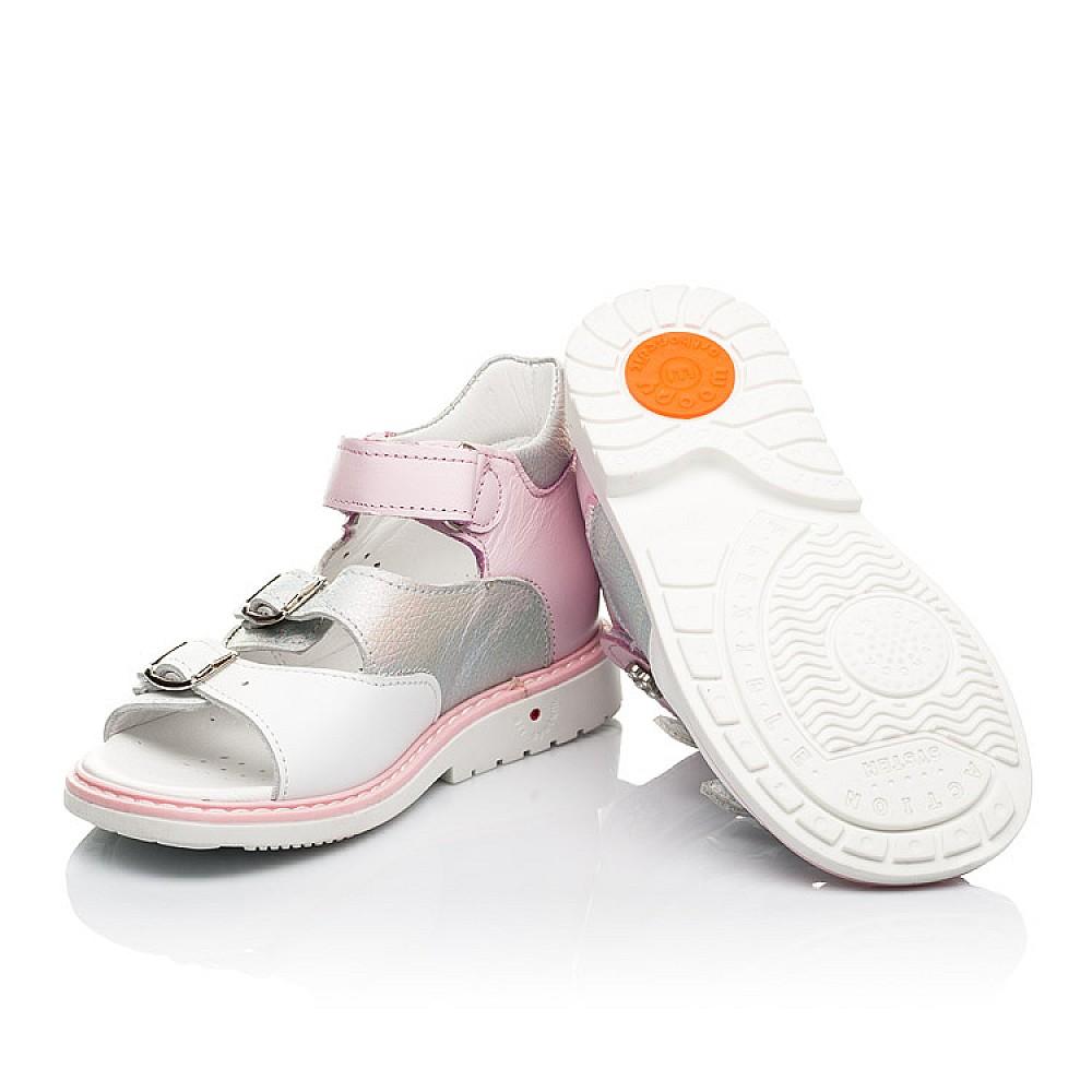 Детские босоножки Woopy Orthopedic розовые для девочек натуральная кожа размер 26-36 (8095) Фото 2