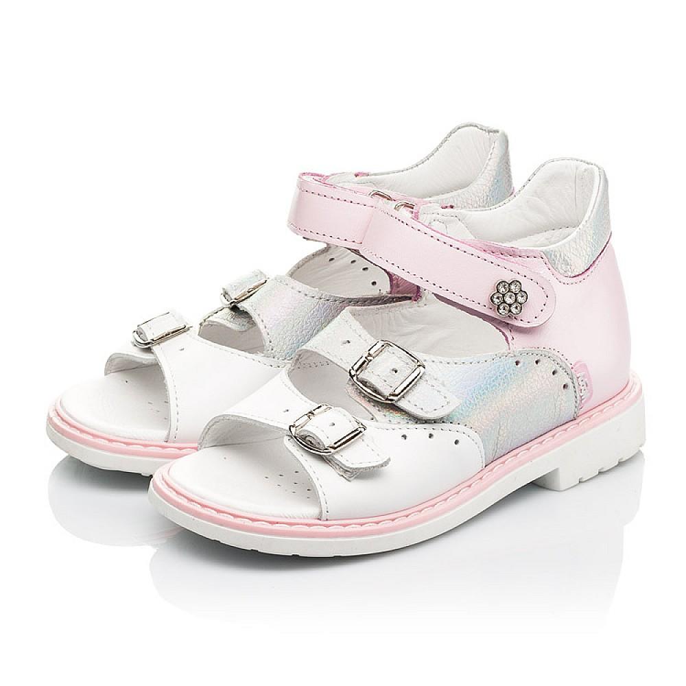 Детские босоножки Woopy Orthopedic розовые для девочек натуральная кожа размер 26-36 (8095) Фото 3