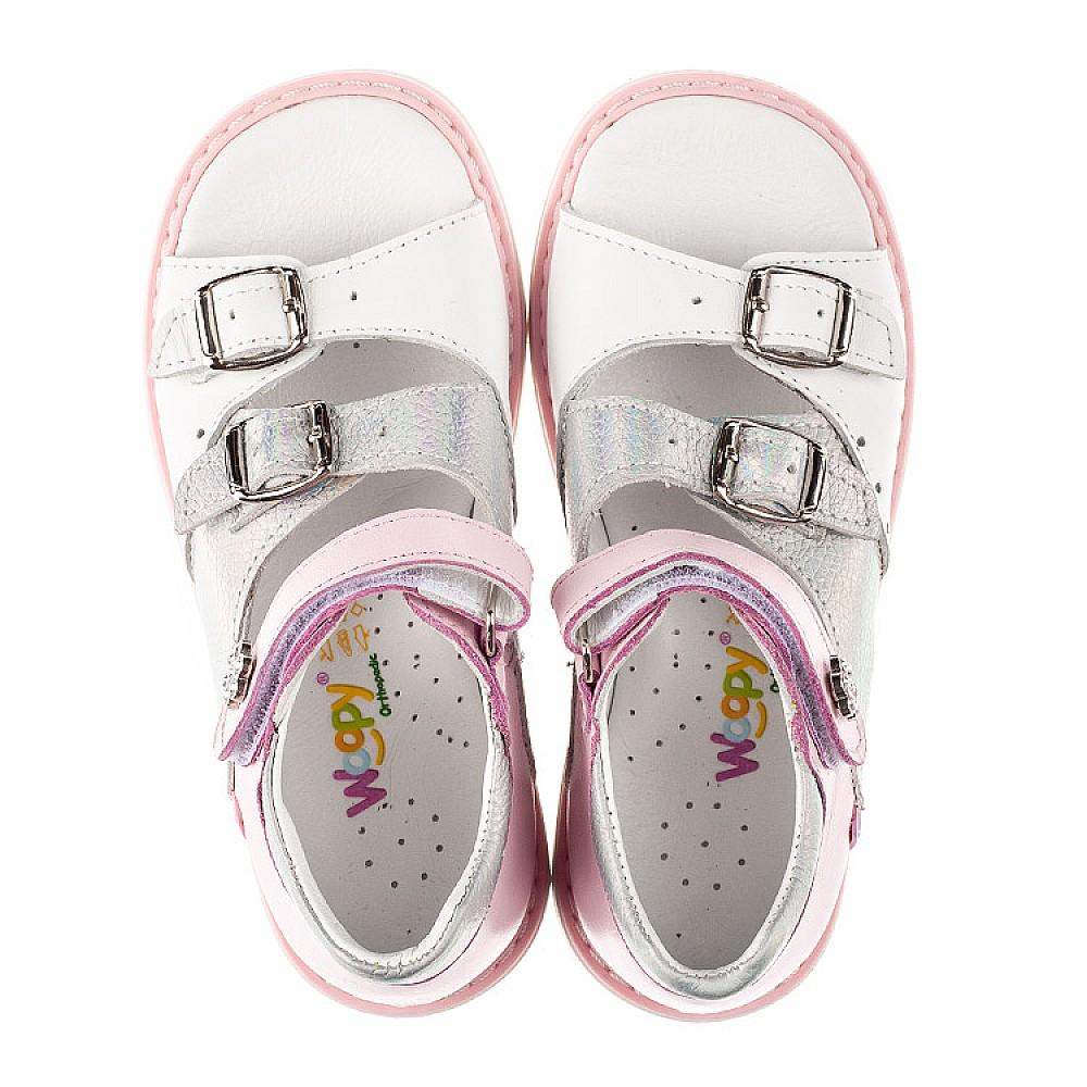 Детские босоножки Woopy Orthopedic розовые для девочек натуральная кожа размер 26-36 (8095) Фото 5