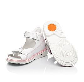Детские босоножки Woopy Orthopedic белые для девочек натуральная кожа размер 18-30 (8096) Фото 2
