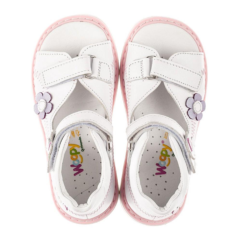 Детские босоножки Woopy Orthopedic белые для девочек натуральная кожа размер 18-30 (8096) Фото 5