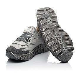 Детские кроссовки (шнурок-резинка) Woopy Fashion серые для мальчиков современный текстиль, натуральная кожа размер 26-40 (8097) Фото 2