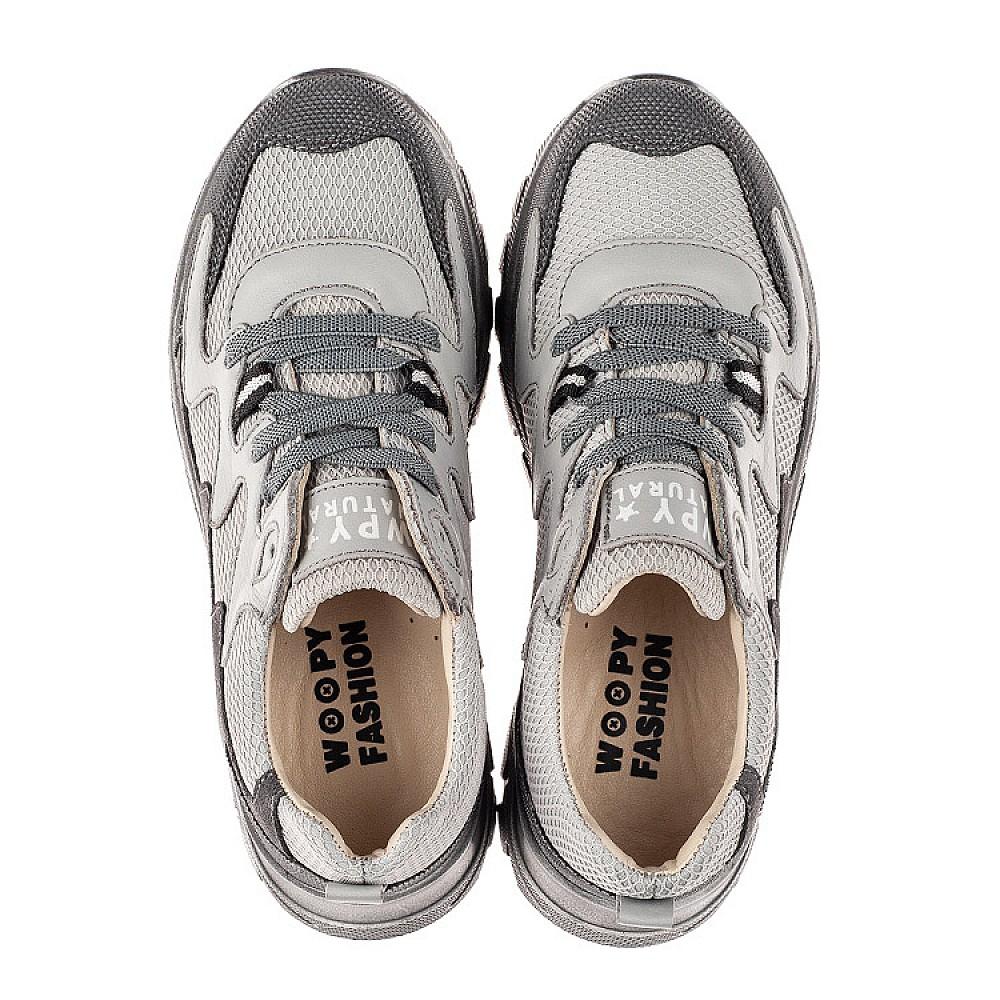Детские кроссовки (шнурок-резинка) Woopy Fashion серые для мальчиков современный текстиль, натуральная кожа размер 26-40 (8097) Фото 5