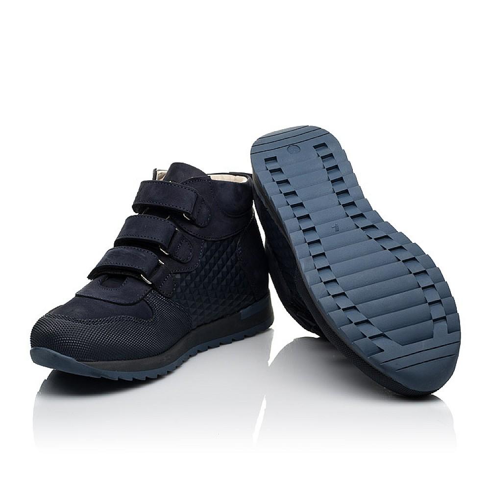 Детские демисезонные ботинки (подкладка кожа) Woopy Fashion синие для девочек натуральный нубук размер 31-40 (8099) Фото 2