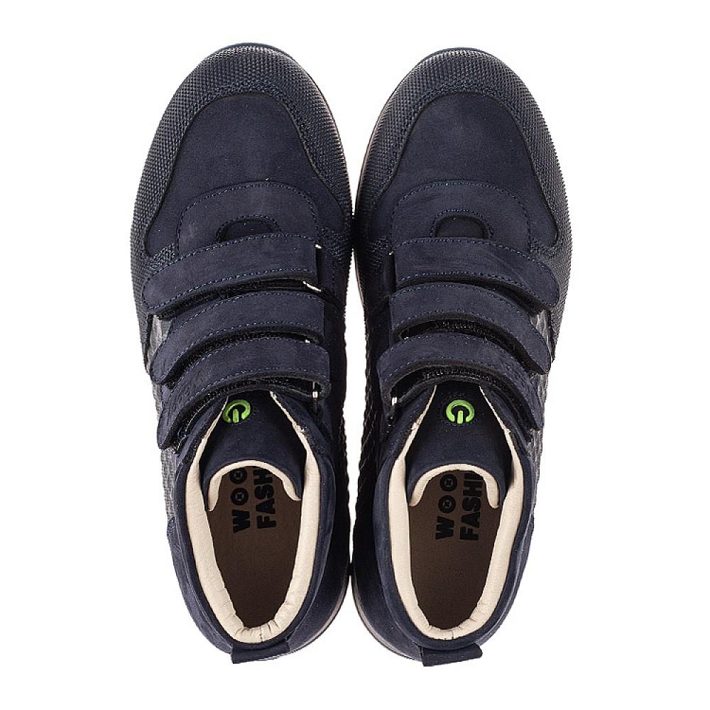 Детские демисезонные ботинки (подкладка кожа) Woopy Fashion синие для девочек натуральный нубук размер 31-40 (8099) Фото 4