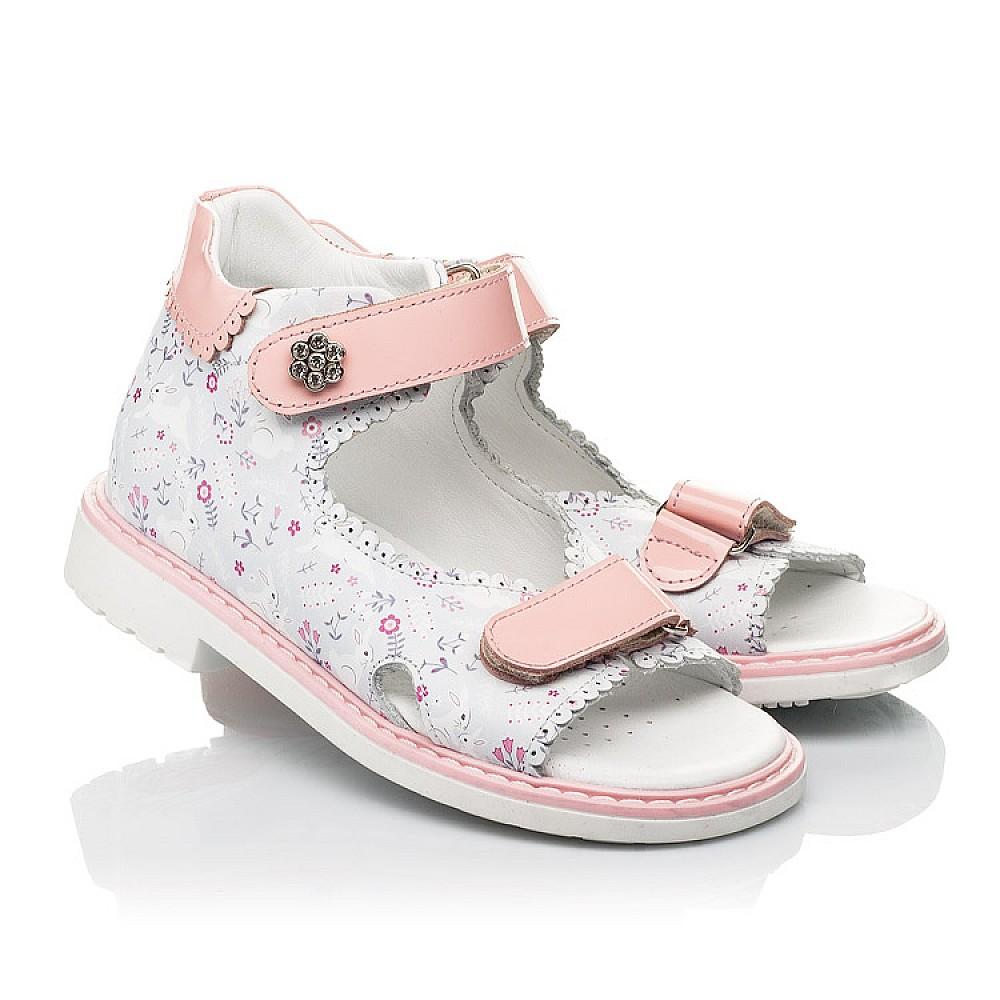 Детские босоножки Woopy Orthopedic розовые для девочек натуральная кожа размер 20-33 (8101) Фото 1