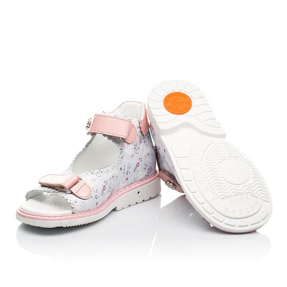 Детские босоножки Woopy Orthopedic розовые для девочек натуральная кожа размер 20-33 (8101) Фото 2