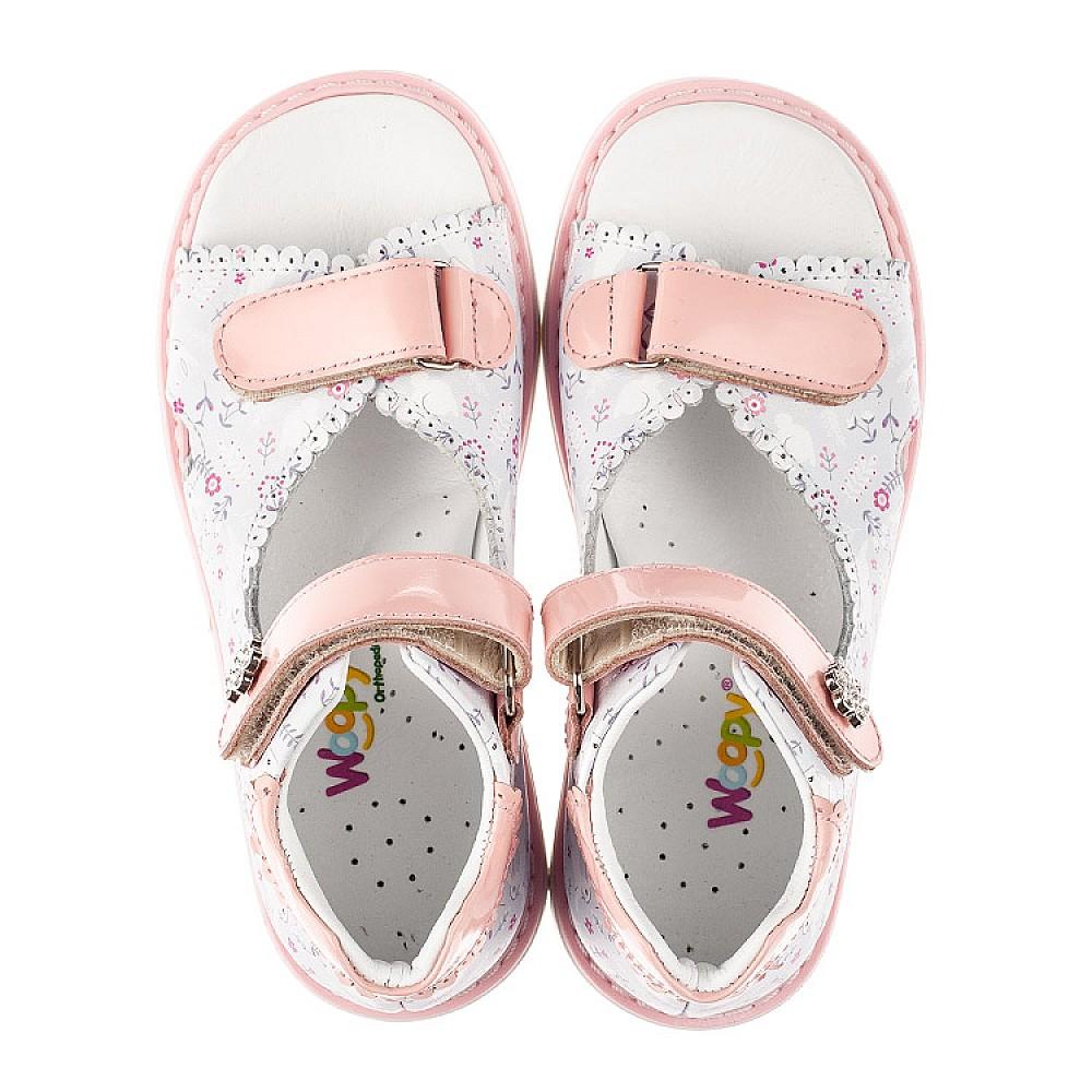 Детские босоножки Woopy Orthopedic розовые для девочек натуральная кожа размер 20-33 (8101) Фото 5