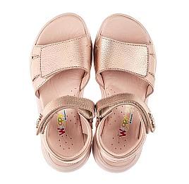 Детские босоножки Woopy Fashion пудровые для девочек натуральный нубук размер 26-39 (8103) Фото 5