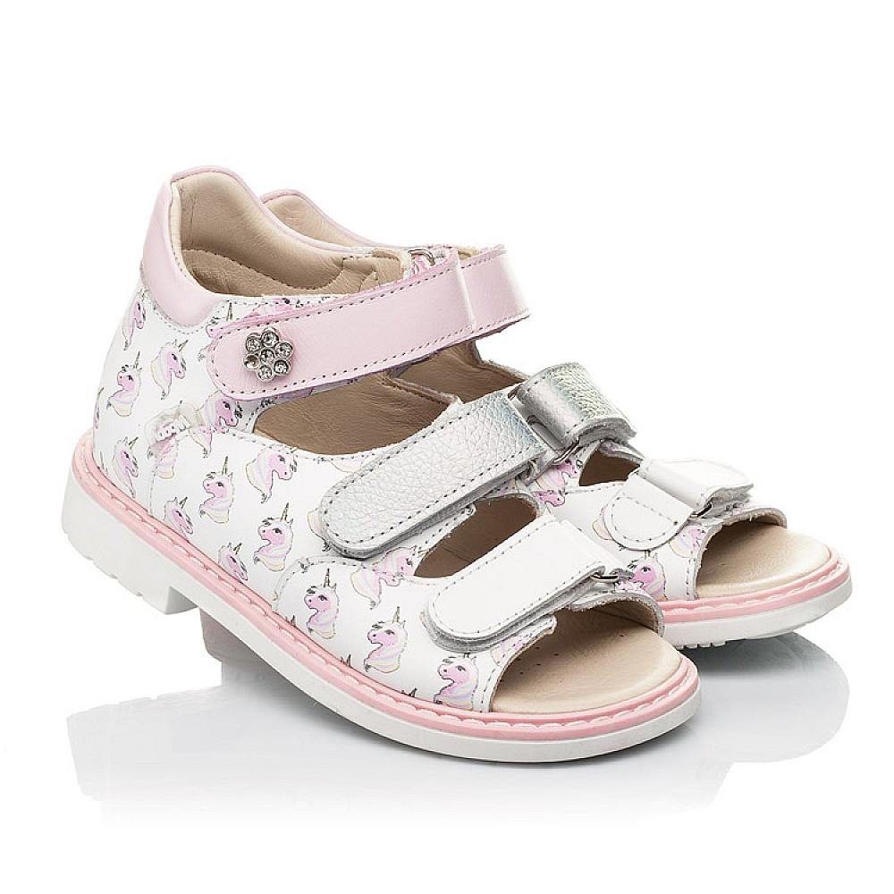 Детские босоножки Woopy Orthopedic розовые для девочек натуральная кожа размер 20-36 (8107) Фото 1