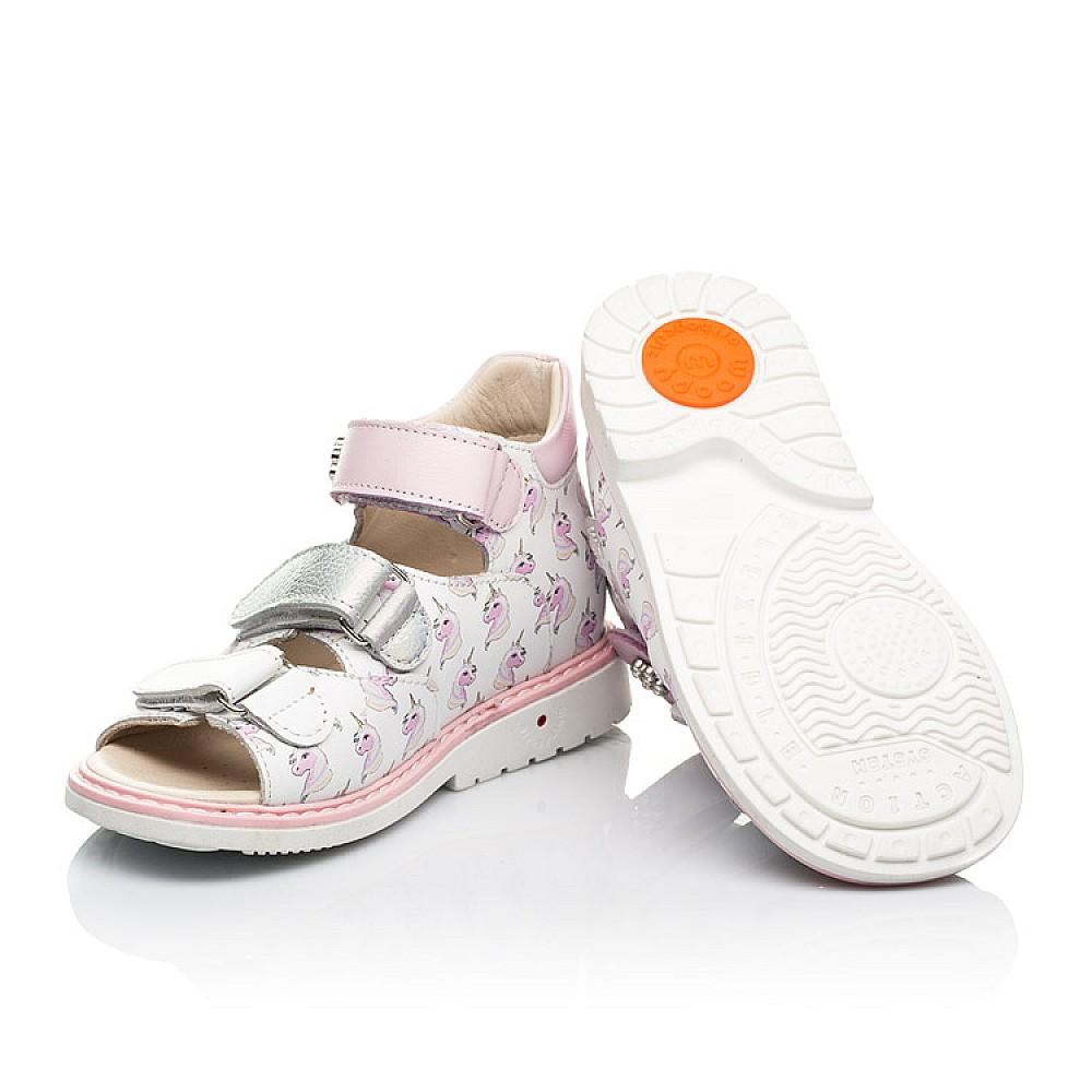 Детские босоножки Woopy Orthopedic розовые для девочек натуральная кожа размер 20-36 (8107) Фото 2