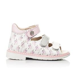 Детские босоножки Woopy Orthopedic розовые для девочек натуральная кожа размер 20-36 (8107) Фото 4