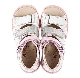 Детские босоножки Woopy Orthopedic розовые для девочек натуральная кожа размер 20-36 (8107) Фото 5