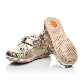 Детские мокасины Woopy Fashion золотые для девочек натуральная кожа и нубук размер 23-30 (8110) Фото 2
