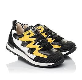 Детские кроссовки (боковая молния) Woopy Fashion черные для девочек натуральная кожа размер 23-30 (8111) Фото 1