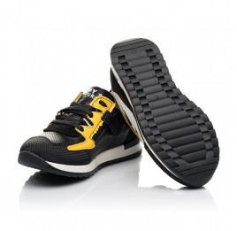 Детские кроссовки (боковая молния) Woopy Fashion черные для девочек натуральная кожа размер 23-30 (8111) Фото 2