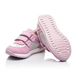 Детские кроссовки Woopy Fashion розовые для девочек натуральная кожа и нубук размер 20-33 (8112) Фото 2