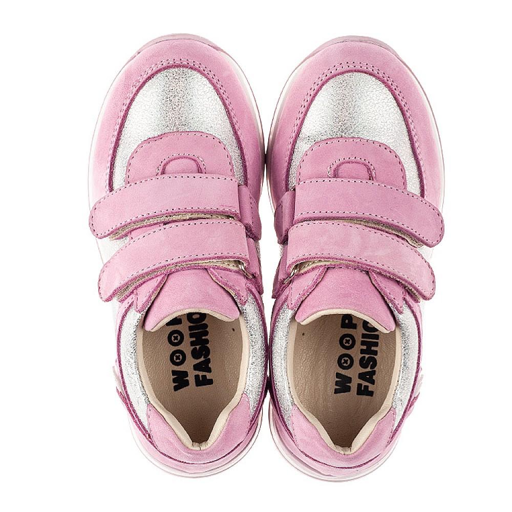 Детские кроссовки Woopy Fashion розовые для девочек натуральная кожа и нубук размер 20-33 (8112) Фото 5