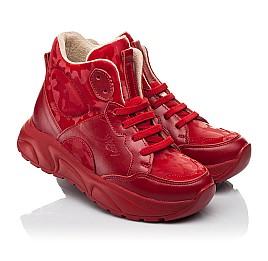 Детские демисезонные ботинки Woopy Fashion красные для девочек натуральная кожа размер 33-39 (8113) Фото 1