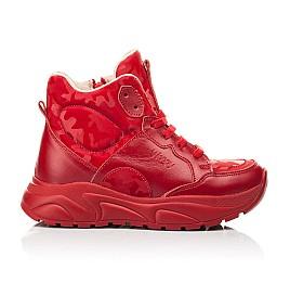 Детские демисезонные ботинки Woopy Fashion красные для девочек натуральная кожа размер 33-39 (8113) Фото 3