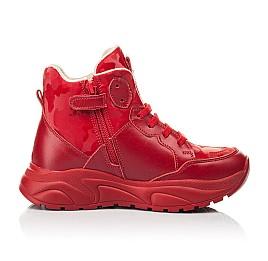 Детские демисезонные ботинки Woopy Fashion красные для девочек натуральная кожа размер 33-39 (8113) Фото 4