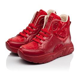 Детские демисезонные ботинки Woopy Fashion красные для девочек натуральная кожа размер 33-39 (8113) Фото 5