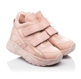Детские демисезонные ботинки (подкладка кожа) Woopy Fashion пудровые для девочек натуральная кожа и нубук размер 21-40 (8114) Фото 1