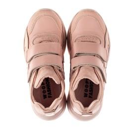 Детские демисезонные ботинки (подкладка кожа) Woopy Fashion пудровые для девочек натуральная кожа и нубук размер 21-40 (8114) Фото 3