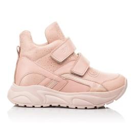 Детские демисезонные ботинки (подкладка кожа) Woopy Fashion пудровые для девочек натуральная кожа и нубук размер 21-40 (8114) Фото 4