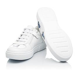 Детские кеды (боковая молния) Woopy Fashion белые для девочек натуральная кожа размер 23-39 (8119) Фото 2