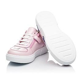 Детские кеды (боковая молния) Woopy Fashion розовые для девочек натуральная кожа размер 21-35 (8120) Фото 2