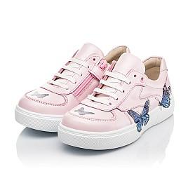 Детские кеды (боковая молния) Woopy Fashion розовые для девочек натуральная кожа размер 21-35 (8120) Фото 3