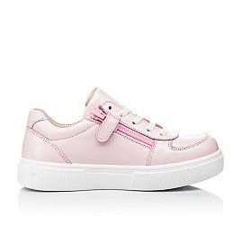 Детские кеды (боковая молния) Woopy Fashion розовые для девочек натуральная кожа размер 21-35 (8120) Фото 5