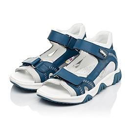Детские босоножки Woopy Fashion синие для мальчиков натуральная кожа размер 21-40 (8121) Фото 3