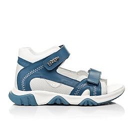 Детские босоножки Woopy Fashion синие для мальчиков натуральная кожа размер 21-40 (8121) Фото 4