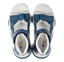 Детские босоножки Woopy Fashion синие для мальчиков натуральная кожа размер 21-40 (8121) Фото 5