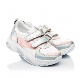 Детские кроссовки Woopy Fashion разноцветные для девочек натуральная кожа размер 21-36 (8125) Фото 1