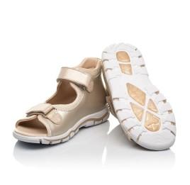 Детские босоножки Woopy Fashion золотые для девочек натуральная кожа размер 23-39 (8129) Фото 2