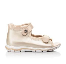 Детские босоножки Woopy Fashion золотые для девочек натуральная кожа размер 23-39 (8129) Фото 4
