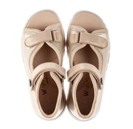 Детские босоножки Woopy Fashion золотые для девочек натуральная кожа размер 23-39 (8129) Фото 5